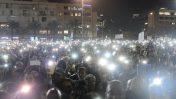 הפגנה נגד אלימות משטרתית כלפי יוצאי אתיופיה, תל-אביב, 30.1.19 (צילום: תומר נויברג)