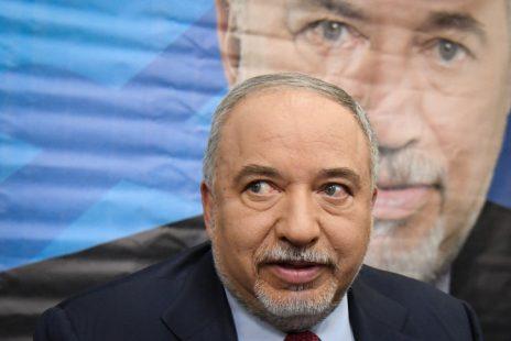 אביגדור ליברמן במסיבת עיתונאים לאחר ההכרזה על פיזור הכנסת, 30.5.2019 (צילום: פלאש 90)