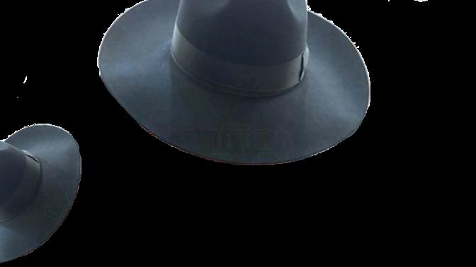 """מגבעת, ועוד מגבעת (אילוסטרציה המבוססת על פרט מתוך התצלום נשוא התביעה של וולטר סוריאנו נגד """"בחדרי חרדים"""")"""