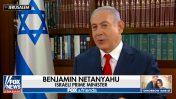"""ראש ממשלת ישראל, בנימין נתניהו, בצילום מסך מתוך תוכנית הטלוויזיה האמריקאית """"פוקס וחברים"""". פוקס-ניוז, 2018"""