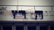 """שלט על בית """"הארץ"""" (צילום: ציפה קמפינסקי)"""