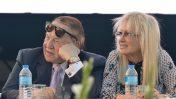 שלדון אדלסון ומרים אדלסון בטקס באוניברסיטת אריאל, 19.8.2018 (צילום: בן דורי)