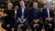 ראשי מפלגת כחול-לבן, מימין: גבי אשכנזי, משה יעלון, בני גנץ ויאיר לפיד (צילום: גיל יערי)