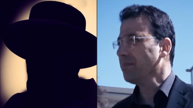 העיתונאי רביב דרוקר (מימין) ואילוסטרציה לאיש העסקים וולטר סוריאנו (צילום דרוקר: צילום מסך)