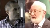 """מנהיג קבלה-לעם, מיכאל לייטמן (מימין), ועו""""ד חנוך מילביצקי, היועץ המשפטי של עמותת """"בני-ברוך – קבלה לעם"""" (צילומים: איתמר ב""""ז וצילום מסך)"""