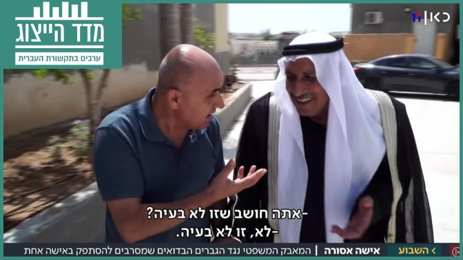 """ריאד עלי (משמאל) ב""""חדשות השבוע"""" (צילום מסך)"""