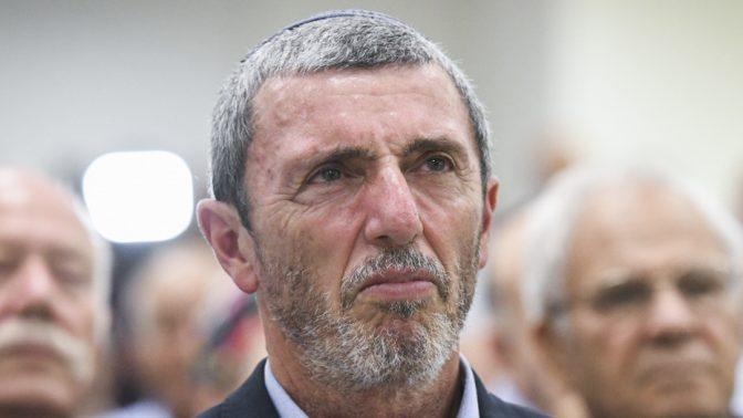 השר רפי פרץ בכינוס של מפלגת הבית-היהודי, 31.7.2019 (צילום: פלאש 90)