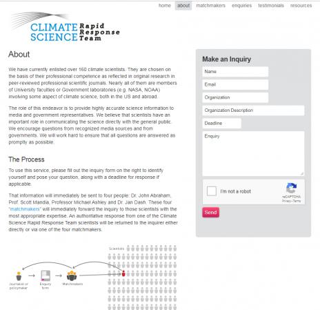 """צילום מסך מתוך אתר """"מדעי האקלים – צוות תגובות מהיר"""" (לחצו להגדלה)"""