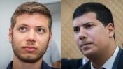 יאיר נתניהו, בנו של ראש הממשלה (משמאל), ועורך-הדין עמית חדד (צילומים: פלאש 90)