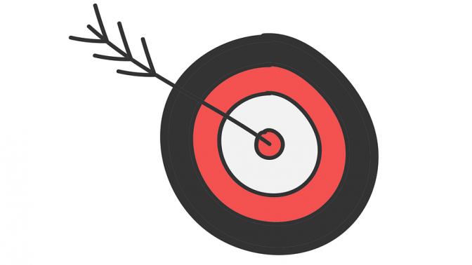 מטרה וחץ (איור: rawpixel, רשיון cc0)