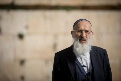 הרב שלמה אבינר, הכותל המערבי בירושלים (צילום: יונתן זינדל)