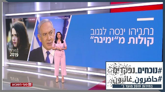הכתבת הפוליטית דפנה ליאל מציגה סיכום פוליטי במהדורת שבת של חדשות 12 (צילום מסך)