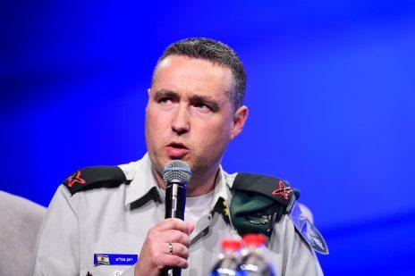 """דובר צה""""ל רונן מנליס. """"ועידת המשפיעים"""" של חדשות 12, תל-אביב, 5.9.2019 (צילום: פלאש 90)"""