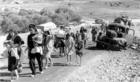 פליטים פלסטינים, שלהי 1948 (צילום: Fred Csasznik, נחלת הכלל)