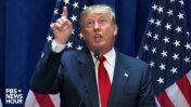 נשיא ארצות-הברית, דונלד טראמפ, בנאום שבו הכריז על ריצתו לבית הלבן בחודש יוני 2015 (צילום מסך)