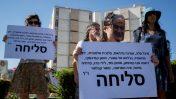 הפגנה נגד אלימות כלפי נשים מול מעון ראש הממשלה בירושלים, 8.10.19 (צילום: יונתן זינדל)