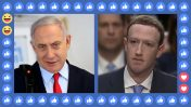 PM Benjamin Netanyahu (left) and Facebook's Mark Zuckerberg (Screenshots; art by The Seventh Eye)