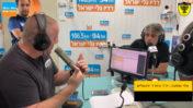 נועם פתחי (משמאל) מראיין את אלי אוחנה באולפן גלי-ישראל, בשבוע שעבר (צילום מסך)