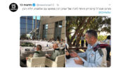 """""""פורום מטכ""""ל קיים דיון מיוחד לזכרו של יצחק רבין ונפגשו עם אלמנתו, דליה רבין"""". מתוך חשבון הטוויטר של חדשות 13, 4.11.2019 (צילום מסך)"""