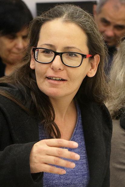 ריקי כהן בן-לולו בכנס העיתונות העצמאית. בית אריאלה, תל-אביב, 27.12.2019 (צילום: יאיר גיל)