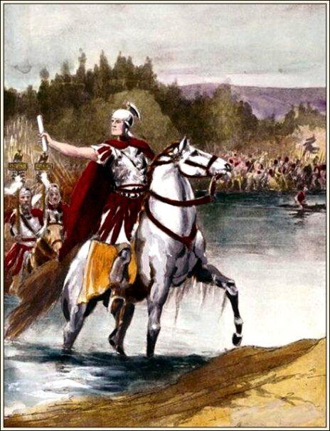 יוליוס קיסר חוצה את הרוביקון (Jacob Abbott, נחלת הכלל)