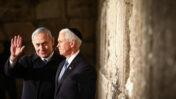 ראש הממשלה בנימין נתניהו וסגן נשיא ארצות-הברית מייק פנס בכותל המערבי, 23.1.2020 (צילום: שלומי כהן)