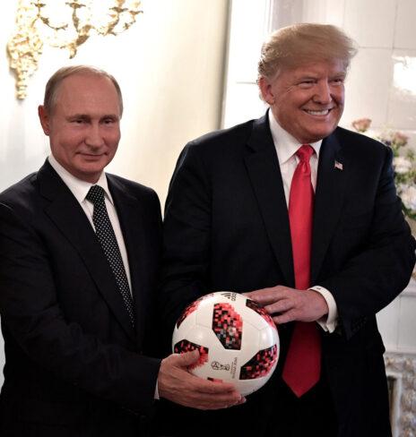 ולדימיר פוטין ודונלד טראמפ, 2018 (צילום: הקרמלין)