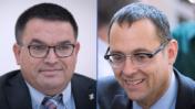 חברי-הכנסת צבי האוזר (מימין) ומיכאל ביטון, כחול-לבן (צילומים: פלאש 90)