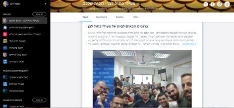 מתוך האפקליצייה שמפעילה כחול-לבן במסגרת קמפיין הבחירות (צילום מסך)