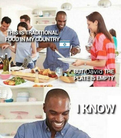 """""""מאכלים ישראלים מסורתיים"""", מתוך העמוד """"ממים פלסטיניים"""""""