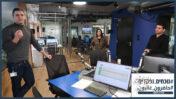 מימין: מוחמד מג'אדלה, סנאא חמוד ופיראס ח'טיב באולפני רדיו נאס, פברואר 2020 (צילום: אורן פרסיקו)