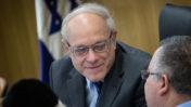 """יו""""ר ועדת הבחירות המרכזית, השופט ניל הנדל. הכנסת, 14.1.2020 (צילום: הדס פרוש)"""