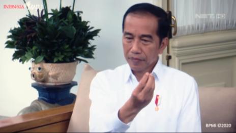 נשיא אינדונזיה ג'וקו וידודו מודיע על חדירת נגיף הקורונה למדינה, 2.3.20 (צילום מסך)