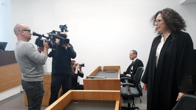 """עו""""ד שרה בלו בבית המשפט המחוזי בתל-אביב (צילום: חן בריל אגרי)"""