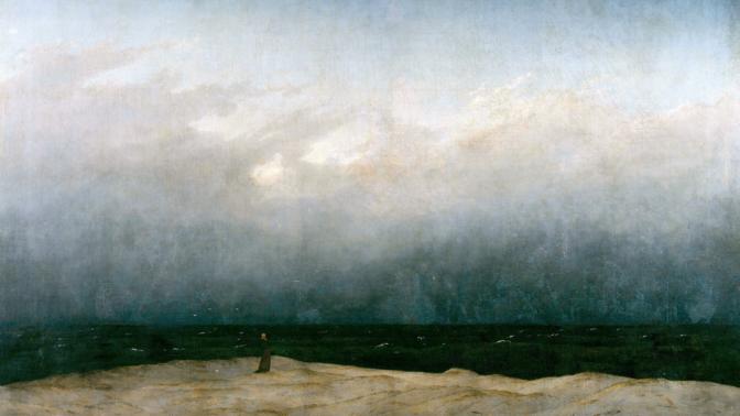 """""""הנזיר על הים"""", קספר דויד פרידריך (1810)"""