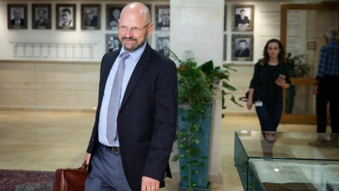 """יורם טורבוביץ', מנהל צוות המו""""מ הקואליציוני של כחול-לבן (צילום: הדס פרוש)"""