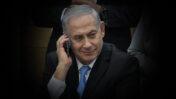 ראש הממשלה בנימין נתניהו משוחח בטלפון נייד (צילום:פלאש90)