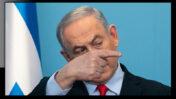 """ראש ממשלת ישראל, בנימין נתניהו, מוסר הצהרה לציבור בנוגע למשבר הקורונה (צילום מקורי: אוליבייה פיטוסי; עיבוד: """"העין השביעית"""")"""