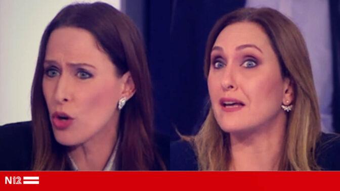 """קרן מרציאנו ויונית לוי תוקפות בחדשות 12 את מזכ""""לית הסתדרות המורים יפה בן-דויד (צילומי מסך)"""