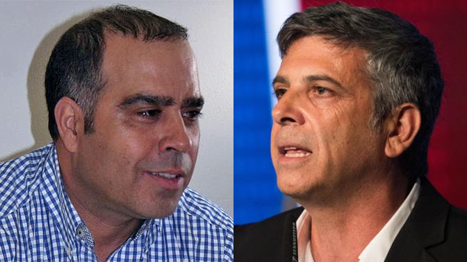 """מנכל חדשות 12 אבי וייס (מימין) ומנכ""""ל ערוץ 13 אבי בן-טל (צילומים: יונתן זינדל ואורן פרסיקו)"""