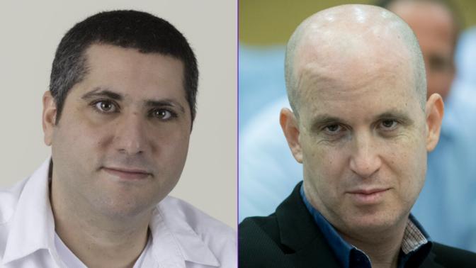 """מנכ""""ל """"כאן"""" אלדד קובלנץ (מימין) ומנהל חטיבת החדשות ברוך שי (צילומים: יונתן זינדל ומיכל צוקר-בכור)"""