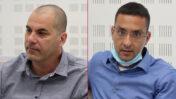 """מימין: סמנכ""""ל הכספים בחברת רשת יוחאי בניטה, ומנכ""""ל חדשות 13 ישראל טויטו, בית הדין לעבודה, 3.5.20 (צילום: אורן פרסיקו)"""