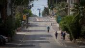 רחוב ריק בתל-אביב בתקופת העוצר החלקי בשל מגפת הקורונה (צילום: מרים אלסטר)