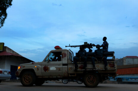 Sudanese soldiers seen patrolling the streets of Juba, the capital of the Republic of South Sudan. August 20, 2011. (Photo by Moshe Shai)