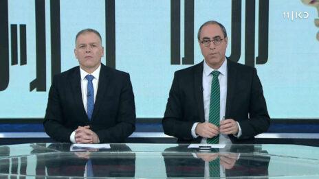 """קלמן ליבסקינד ואראל סג""""ל מגישים את התוכנית """"קלמן וסג""""ל"""" (צילום מסך)"""