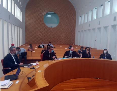 לקראת דיון בהרכב שבעה שופטים בעתירת חופש המידע של רביב דרוקר נגד בנימין נתניהו, 2.8.2020 (צילום: אורן פרסיקו)