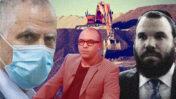 """עיתונאי """"ידיעות אחרונות"""" עמיחי אתאלי (במרכז), מו""""ל העיתון והעורך האחראי ארנון """"נוני"""" מוזס (משמאל, צילום מקורי: פלאש 90) ואיל הכרייה דן גרטלר"""