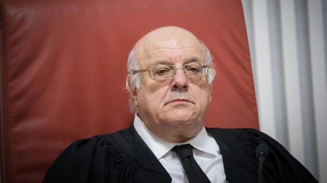 השופט חנן מלצר (צילום: יונתן זינדל)