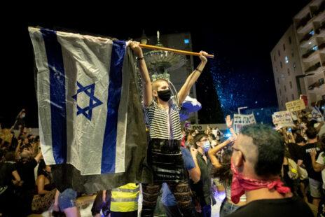הפגנה נגד בנימין נתניהו, ירושלים, 1.8.2020 (צילום: יונתן זינדל)