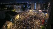 מחאה נגד נתניהו סמוך למעון ראש הממשלה בירושלים, 8.8.2020 (צילום: אוליבייה פיטוסי)